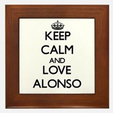 Keep Calm and Love Alonso Framed Tile