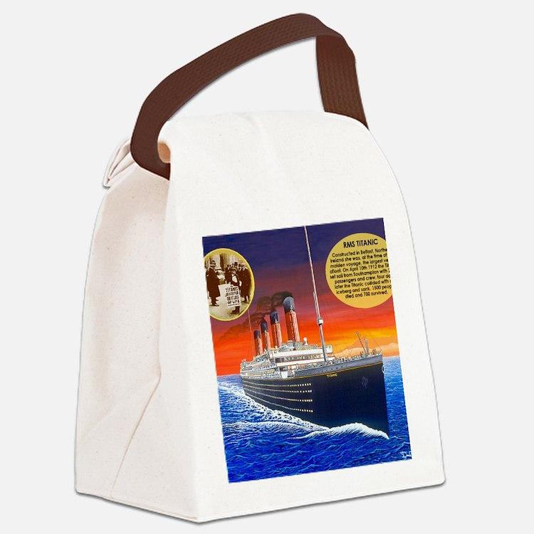 Titanic Canvas Lunch Bag