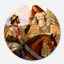 Guinevere and Arthur Round Car Magnet