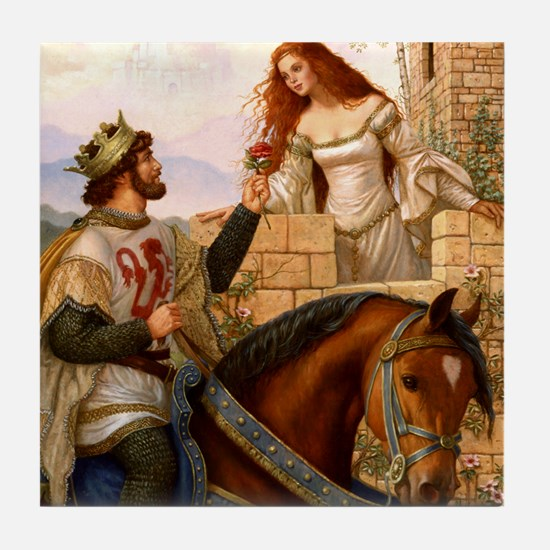 Guinevere and Arthur Tile Coaster