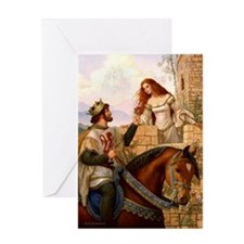 Guinevere and Arthur Greeting Card