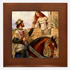 Guinevere and Arthur Framed Tile