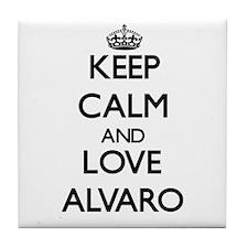 Keep Calm and Love Alvaro Tile Coaster