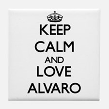 Keep Calm and Love Alvaro Tile Coaster