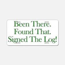 been there-green Aluminum License Plate
