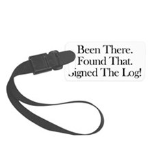 been there-black Luggage Tag