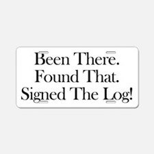 been there-black Aluminum License Plate