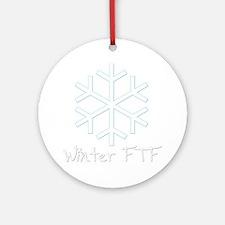 Winter FTF Round Ornament