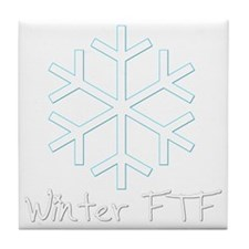 Winter FTF Tile Coaster