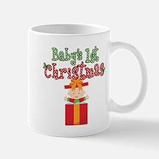 1st Christmas Baby Present Mug