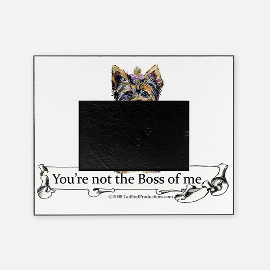 2-Boss Yorkie Picture Frame