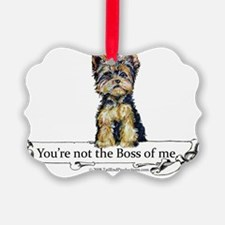 2-Boss Yorkie Ornament