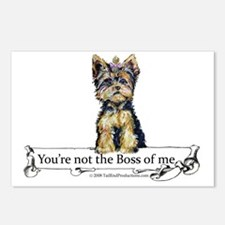 2-Boss Yorkie Postcards (Package of 8)