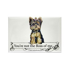 2-Boss Yorkie Rectangle Magnet