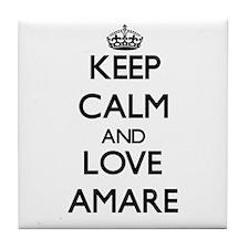 Keep Calm and Love Amare Tile Coaster