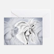 White Horse Head-Yardsign Greeting Card