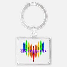 rainbowkayakhearts Landscape Keychain