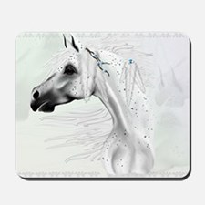 Leopard Appy and White Feathers-Yardsign Mousepad