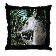 Australia wallaby Throw Pillow
