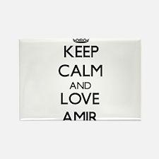 Keep Calm and Love Amir Magnets