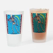 lamuerte9by12doubleborder Drinking Glass