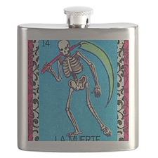 lamuerte9by12doubleborder Flask