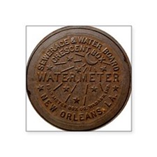 "NOLA Water Meter Square Sticker 3"" x 3"""