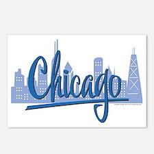 CHICAGO-Dark-Blue Postcards (Package of 8)