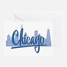 CHICAGO-Dark-Blue Greeting Card