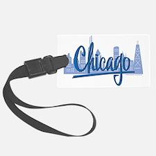 CHICAGO-Dark-Blue Luggage Tag