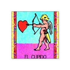 """cupid9by12doubleborder Square Sticker 3"""" x 3"""""""