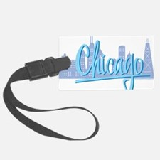 CHICAGO-Light-Blue Luggage Tag