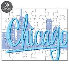 CHICAGO-Light-Blue Puzzle