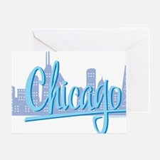 CHICAGO-Light-Blue Greeting Card