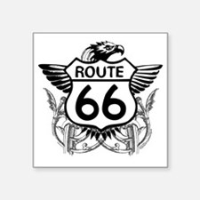 "route_66_t_shirt Square Sticker 3"" x 3"""