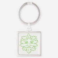 GreenmanDistr4DK Square Keychain