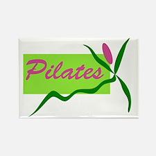 PilatesFlower Rectangle Magnet