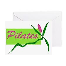 PilatesFlower Greeting Card