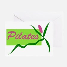 PilatesFlower Greeting Card