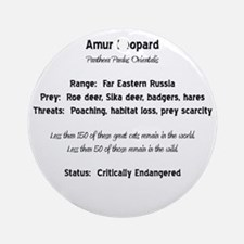 Amur Facts Round Ornament