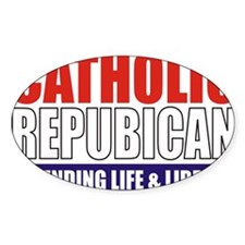 2-Catholic Republican (TShirt Front Decal