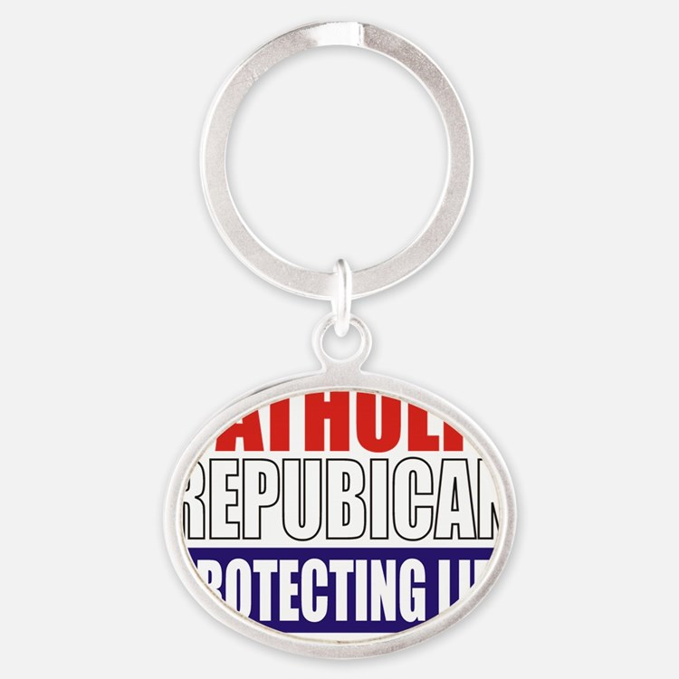 Catholic Republican (Tote) Oval Keychain