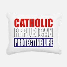 Catholic Republican (Tot Rectangular Canvas Pillow