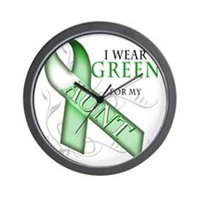 I Wear Green for my Aunt Wall Clock