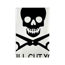 Beauty Shop Pirate 1 Rectangle Magnet