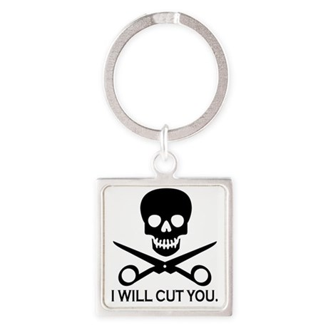 Beauty Shop Pirate 1 Square Keychain