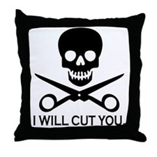 Beauty Shop Pirate 1 Throw Pillow