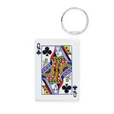 queen clubs copy Keychains