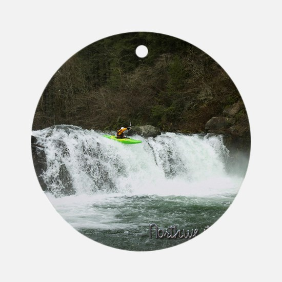00cover kayaking Round Ornament