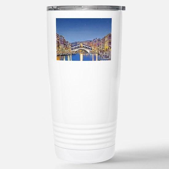 Stars Over Venice Stainless Steel Travel Mug